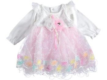 Платье нарядное 6-9 мес пышное розовое 316584